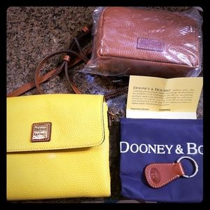 Dooney & Bourke crossbody with makeup case, key